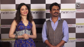 Nawazuddin Siddiqui and Tamannaah Bhatia at Bole Chudiyan Promotions