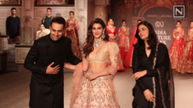 Kriti Sanon Turns Perfect Muse to Shyamal and Bhumika at India Couture Week 2019