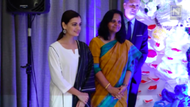 Dia Mirza Participates in Save the Beach Initiative and Reveals a Special Art Installation