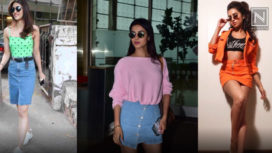Bollywood Celebrities Flaunting the Denim Skirts with Elan