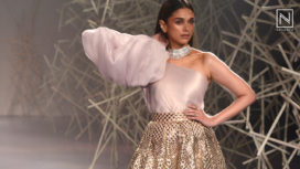 Aditi Rao Hydari Stuns as a Showstopper for Pankaj & Nidhi at India Couture Week 2019