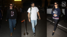 Bollywood Celebrities Step in at the Airport in Style
