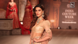 Kriti Sanon Walks Ramp for Shyamal and Bhumika at India Couture Week 2019