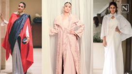 Bollywood Divas Layering Sari with Fashionable Outerwear
