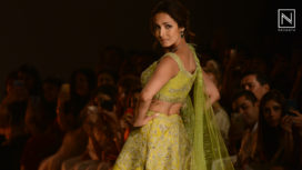 Malaika Arora Walks the Ramp for Sulakshana Monga at India Couture Week 2019