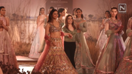Rakul Preet Walks Ramp for Reynu Taandon at India Couture Week 2019