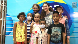 Taapsee Pannu Spends Time with Children Battling Cancer