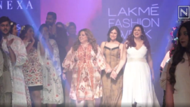 Delnaaz Irani and Vahbiz Dorabjee Walk the Ramp for Rina Dhaka at LFW WF19