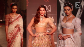 Trendy Puff Sleeved Traditional Pieces from the Runway of India Couture Week 2019