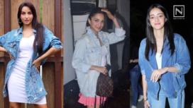 Bollywood Fashionistas are all about Oversized Denim Jackets this Season