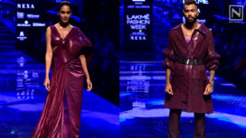 Hardik Pandya and Lisa Haydon for Amit Aggarwal at Lakme Fashion Week Winter Festive 19