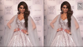 Urvashi Rautela Stuns as She Turns Muse to Masumi Mewawalla at LFW WF19