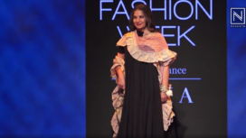 Shabana Azmi Sashays Down the Runway for Kaveri Lalchand at Lakme Fashion Week WF19
