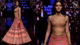 Ananya Panday Stuns as a Showstopper for Arpita Mehta at Lakme Fashion Week WF19
