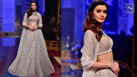 Diana Penty Stuns as a Showstopper for Ridhi Mehra at Lakme Fashion Week WF19