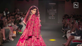 Genelia D'Souza Turns Showstopper for Saroj Jalan's Bridal Creation at LFW WF19