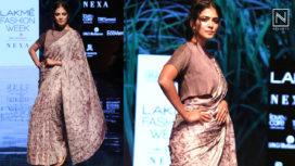 Malavika Mohanan Walks the Ramp for Padmaja at Lakme Fashion Week Winter Festive19