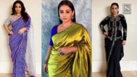 5 Elegant Sari Looks Vidya Balan Owned During Mission Mangal Promotions