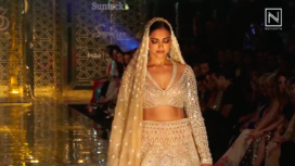 Deepika Padukone Sashays Down the Runway for Abu Jani Sandeep Khosla Collection Showcase