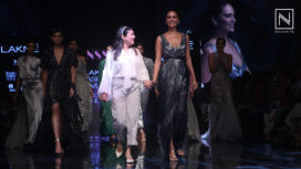 Esha Gupta Walks for Not So Serious by Pallavi Mohan at LFW WF19