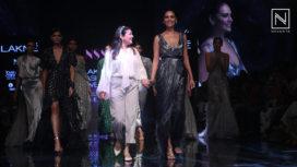 Esha Gupta Walks for Not So Serious by Pallavi Mohan at LFW WF19