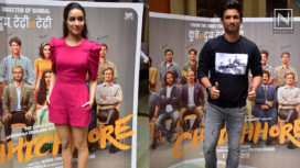 Shraddha Kapoor and Sushant Singh Rajput Promoting Chhichhore at a College