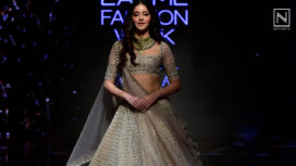 Ananya Panday Turns Bride for Anushree Reddy at Lakme Fashion Week WF19