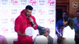Arjun Kapoor Creates Awareness on National Cancer Rose Day 2019