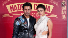Raj Kummar Rao and Mouni Roy at Made In China Trailer Launch