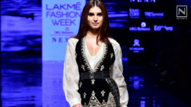 Tara Sutaria Marks her Debut as a Showstopper for Ritu Kumar at Lakme Fashion Week WF19