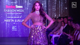 Nora Fatehi Walks the Ramp for Neeta Lulla at the Curtain Raiser Event of BTFW 2019