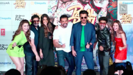 The Star Cast of Pagalpanti Come Together For the Film's Song Launch
