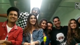 Star Cast of the Movie Housefull 4 Promote the Film Travelling by Train