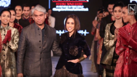 Nushrat Bharucha Stuns as a Muse to Rajesh Pratap Singh at Bangalore Times Fashion Week 2019