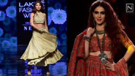 Designers and their Showstoppers - Shilpa Shetty and Genelia Deshmukh