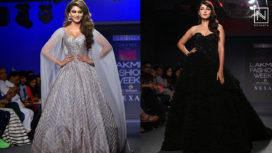Designers and their Showstoppers - Urvashi Rautela and Rhea Chakraborty