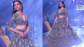 Aditi Rao Hydari Glides the Ramp for Kalki Fashions at Bombay Times Fashion Week 2019