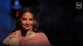 Shabana Azmi Graces the Ramp for Kaveri Lalchand at LFW WF 2019