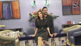Sophie Choudry Visits Fashion Designer Rocky S at the Ace Tech Exhibition 2019