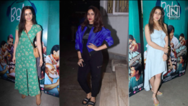 Sara Ali Khan, Shraddha Kapoor, Janhvi Kapoor and Others at Bala Screening