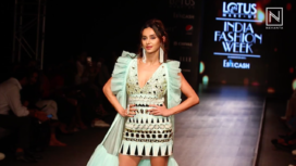 Shibani Dandekar Walks the Ramp for Yogita Kadam at Lotus Makeup India Fashion Week SS20