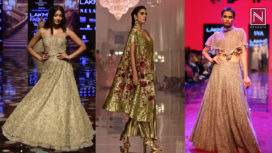 Gold Toned Ensembles Perfect for the Festive Season from the Runway