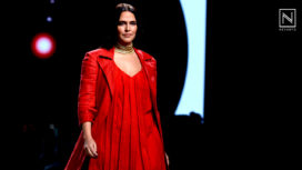Neha Dhupia Bedazzles as the Showstopper for Nidhika Shekhar at LMIFW SS20