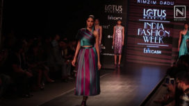 Rimzin Dadu Presents Jewel-Toned Collection at Lotus Makeup India Fashion Week SS20