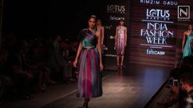 Rimzin Dadu Presents Jewel-Toned Collection at Lotus Makeup India Fashion Week SS20