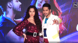 Varun Dhawan and Nora Fatehi at Street Dancer 3D Song Launch