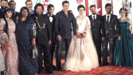 Salman Khan Attends his Makeup Artist's Son's Wedding with Other Celebs