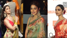 Bollywood Divas Notch up their Style Game with Floral Print Saris