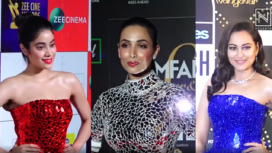 Bollywood Divas Make Statement in Different Mosaic Work Outfits