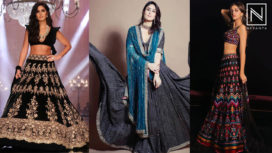 Bollywood Celebrities Bedazzling in Gorgeous Black Lehengas